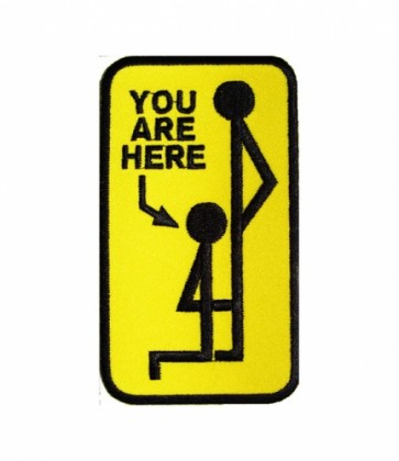 You Are Here Yellow Patch, Funny Patches