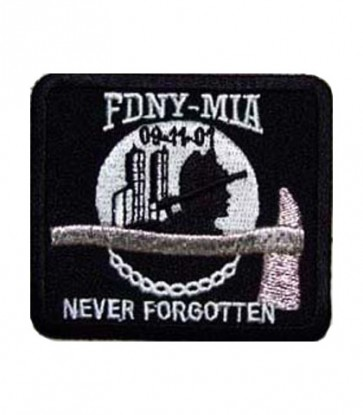 FDNY-MIA Never Forgotten Patch, 9-11 Patriotic Patches