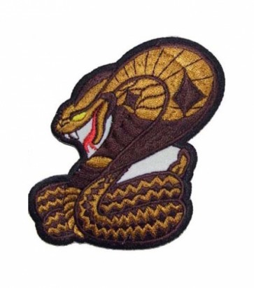Brown Cobra Snake Patch, Snake Patches