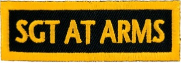 Sgt At Arms Yellow Patch, Club Rank Patches