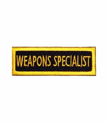 Weapons Specialist Yellow Patch, Military Patches