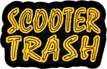 Scooter Trash Patch, Biker & Motorcycle Patches