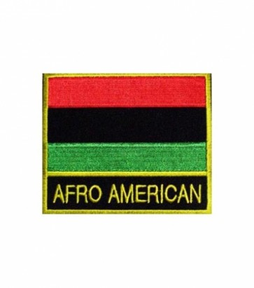 Afro American Flag Patch, Country Flag Patches