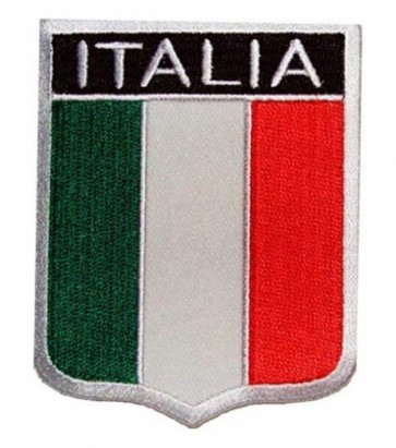 Italia Flag Shield Patch, Italian Pride Patches