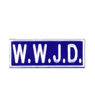 WWJD Patch, Religious Sayings Patches