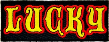 Lucky Red & Yellow Patch, Sayings Patches