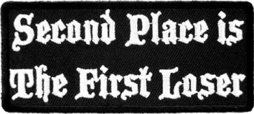 Second Place First Loser Patch, Funny Patches