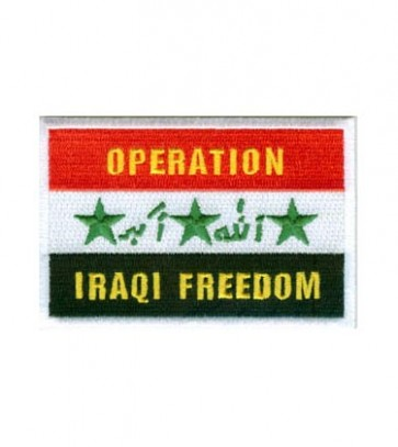 Operation Iraqi Freedom Iraq Flag Patch, Military Patches