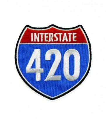 I-420 Road Sign Patch, Marijuana Smoking Patches