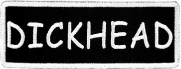 Dickhead Patch, Funny Biker Patches