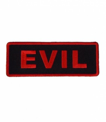 Evil Red & Black Patch, Funny Sayings Patches