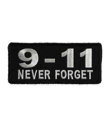 9-11 Never Forget Patch, September 11 Patches