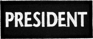 President Black & White Patch, Biker Club Patches