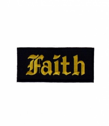Faith Black & Yellow Patch, Christian Patches