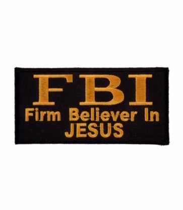 F.B.I. Firm Believer In Jesus Patch, Christian Patches