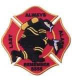 Firefighter 5555 Alarm Patch, Firefighter Patches