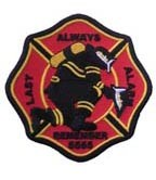 Firefighter 5555 Alarm Black Patch, Firefighter Patches