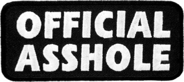 Official Asshole Patch, Vulgar Sayings Patches