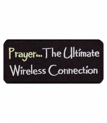 Prayer The Wireless Connection Patch, Religious Patches