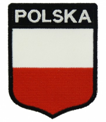 Polska Flag Shield Patch, Country Flag Patches