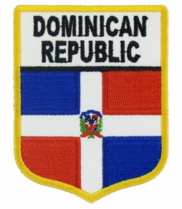 Dominican Republic Flag Shield Patch, Country Flag Patches