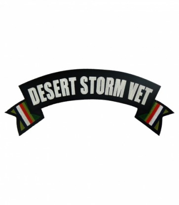 Desert Storm Vet Service Ribbons Rocker Patches