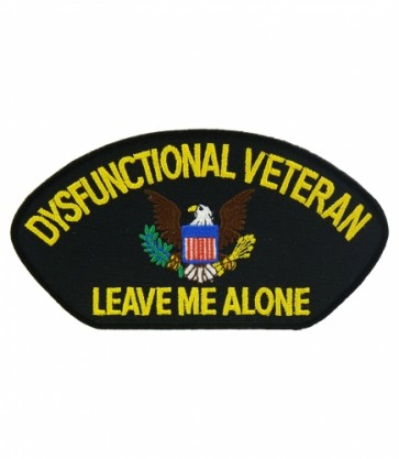 Dysfunctional Veteran Hat Patch, Military Cap Patches
