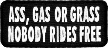 Ass Gas Or Grass Patch, Biker Sayings Patches