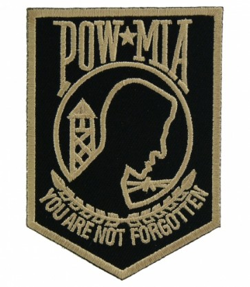 Gold & Black POW Logo Patch, POW MIA Patches