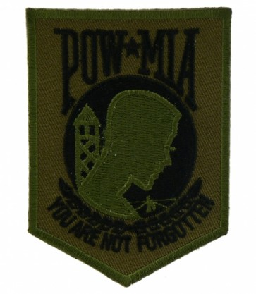 Green & Black POW Logo, POW MIA Patches