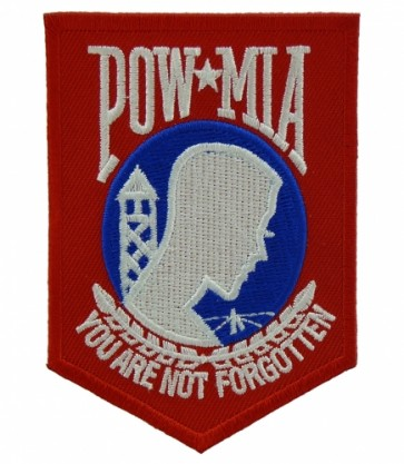 Red, White & Blue POW Logo Patch, POW MIA Patches
