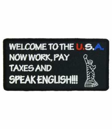 Welcome To The USA Patch, Speak English Patches