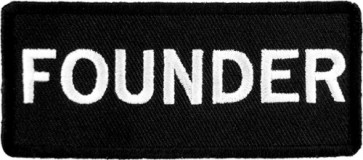 Founder Black & White Patch, Biker Club Rank Patches