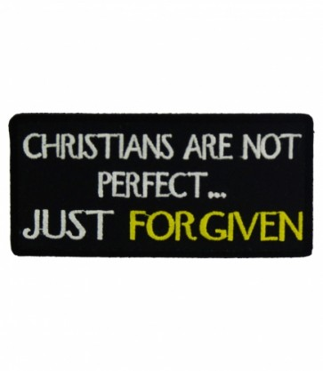 Christians Are Not Perfect Patch, Christian Patches