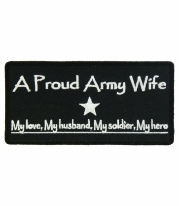 Proud Army Wife Patch, Women's Military Patches
