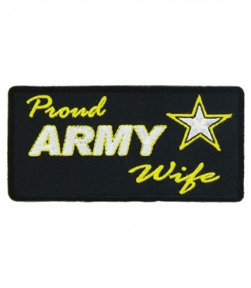 Proud Army Wife Logo Patch, Proud Wife Patches