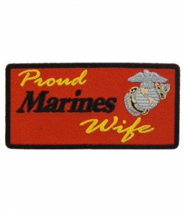 Proud Marines Wife Logo Patch, Proud Wife Patches