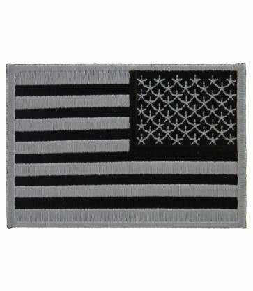 American Flag Grey Subdued Reversed Patches