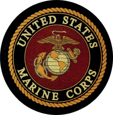 United States Marine Corps Eagle Globe & Anchor Logo Genuine Leather Patch