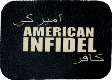 American Infidel Arabic Writing Genuine Leather Patch