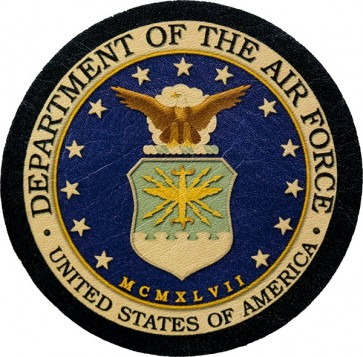 United States Air Force Insignia Genuine Leather Patch