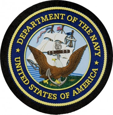 United States Navy Insignia Genuine Leather Patch