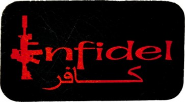 Arabic Infidel Black & Red 100% Genuine Leather Patch