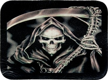 Grim Reaper Angel Of Death Sickle Genuine Leather Patch