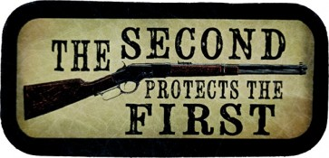 Second Amendment The Second Protects the First Genuine Leather Patriotic Patch