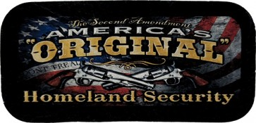 Second Amendment Homeland Security American Flag Genuine Leather Patch