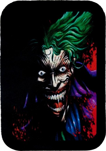 Green Haired Bloody Crazy Laughing Joker Genuine Leather Patch