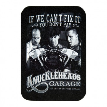 Knucklehead Garage If We Can't Fix it You Don't Pay Genuine Leather Patch