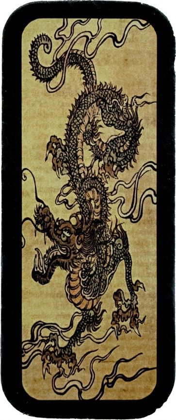 Serpentine Tan & Grey Scaly Dragon Genuine Leather Patch