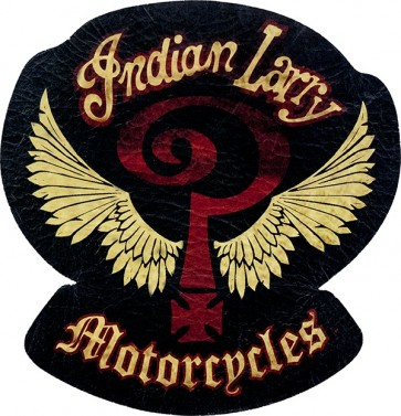 Indian Larry Winged Question Mark Genuine Leather Sew On Patch